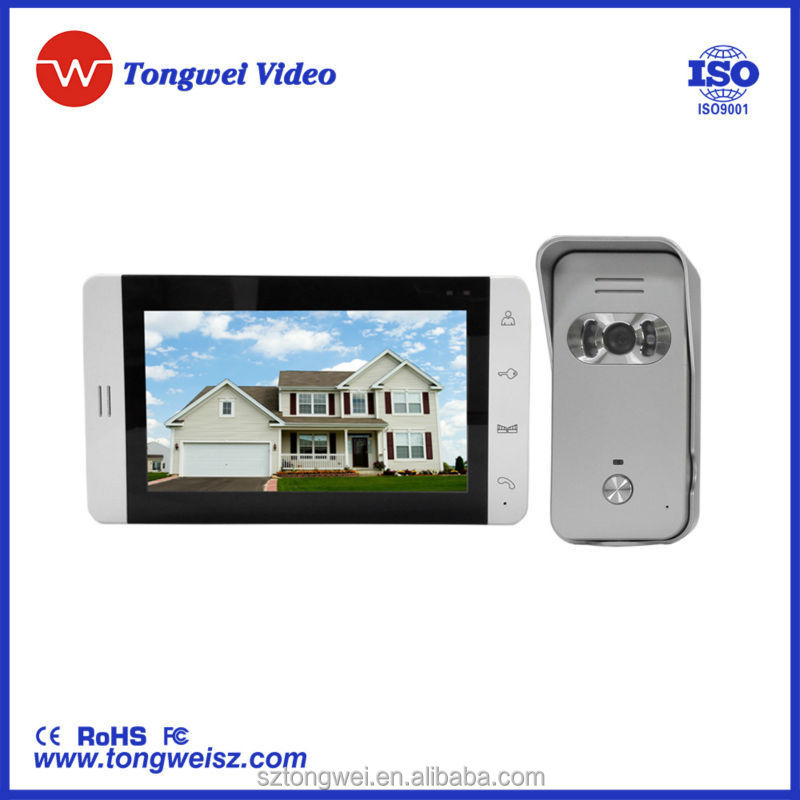 "Newest 7"" TFT LCD video door phone & camera door lock"