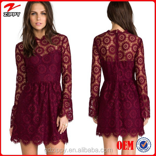 2014 High Quality Lace Dress Design Casual Clothes For Women