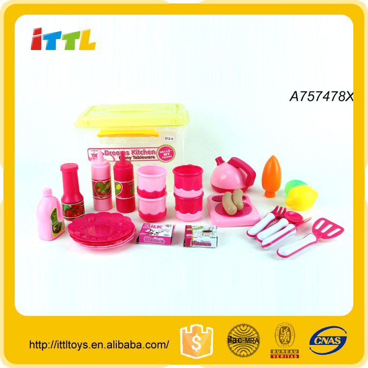 Hot selling Funny Pretend Role Play Educational mini kitchen set toy