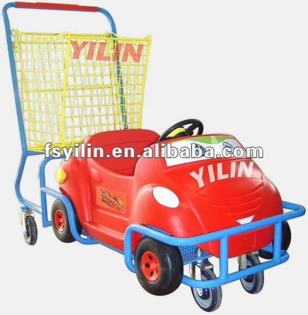 SCC03 funny and colourful children supermarket trolley
