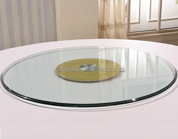 Superbe Tempered Glass Round Table Top Lazy Susan