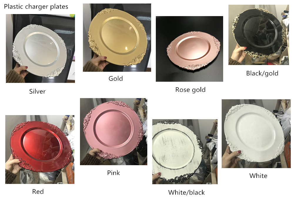 Pz21080 Cheap Gold Plastic Charger Plates For 1 Wholesale Buy
