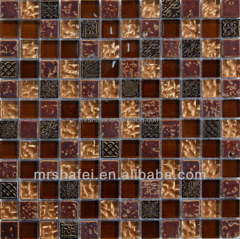 Luxe glas mix steen moza ek indoor wandtegel rode kleur moza eken product id 60570201032 dutch - Rode mozaiek tegel ...