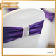 SH047 Bow tie size fancy elastic purple wedding spandex custom chair sash