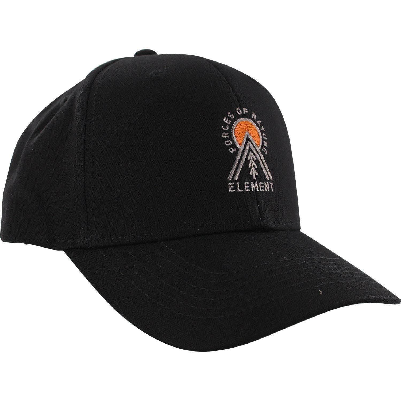 2ef651301db Get Quotations · Element Skateboards Camp II Flint Black Snapback Hat -  Adjustable