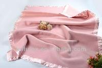 Blue Warm Blanket Soft Australian Wool Baby Blanket