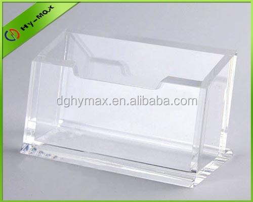 Transparent Acryl Desktop Visitenkartenhalter Visitenkarten-Aufsteller Case Box