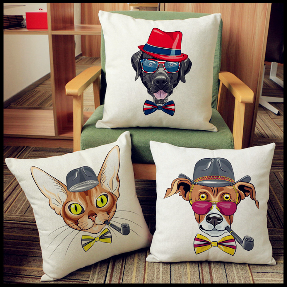 Nordic style Cushions Home Decor minimalist Cute dog Cushions For Sofas soft and comfortable Decorative Cushion
