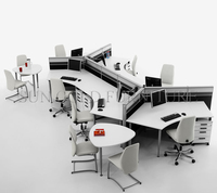 Modern White High Quality Steel legs Curved Office Workstation(SZ-WS544)