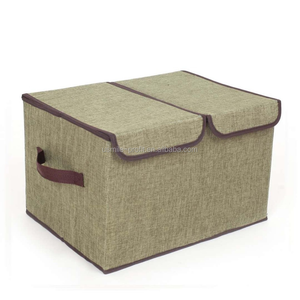 Poly Linen Storage Box With Lid/ Decorative Storage Box/cardboard Storage  Box   Buy Decorative Cardboard Drawer Storage Box,Collapsible Storage Box  With Lid ...