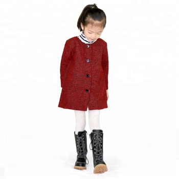 b7e9aeb578a Hot sale keep warm button burgundy winter coat, View jacket girls, BIF  Product Details from Butterflyinflower Merchandise Firm on Alibaba.com