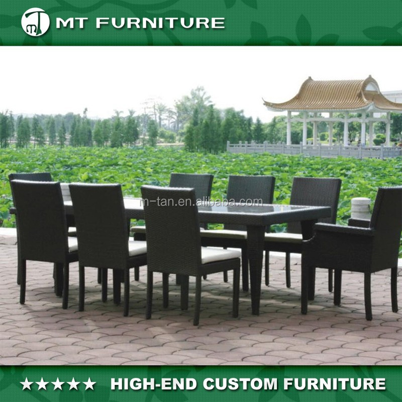 all weather outdoor rattan wicker patio furniture 9pc dining set