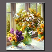 Colorful High Quality Acrylic Paintings Flowers Wall Art,Beautiful ...