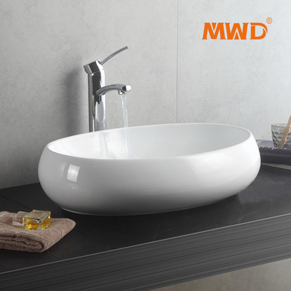 Lavabo Salle De Bain Ovale ~ ovale forme comptoir installer salle de bains lavabo vier lavabo de