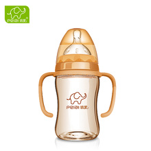 New product high quality PPSU wide neck baby feeding bottle with removable handles