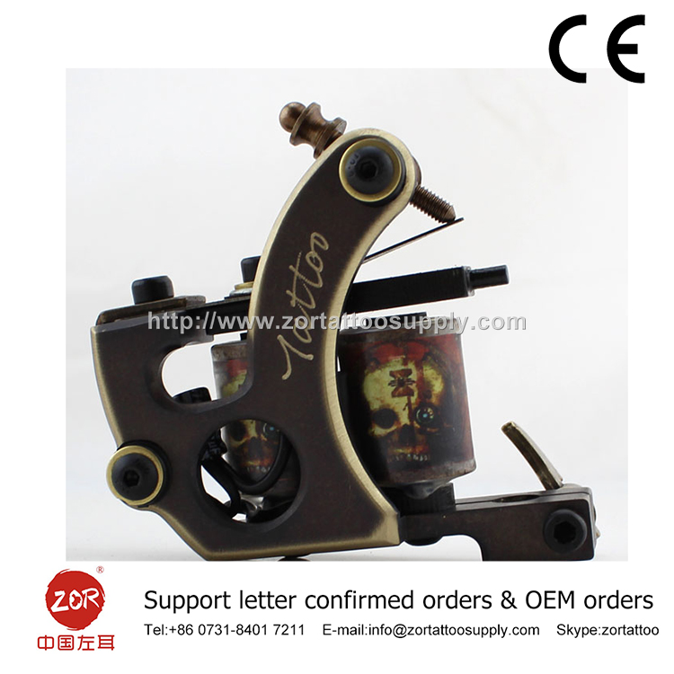 Pro Tattoo Machine True Brass Gun High Quality coils gilding tattoo machine gun