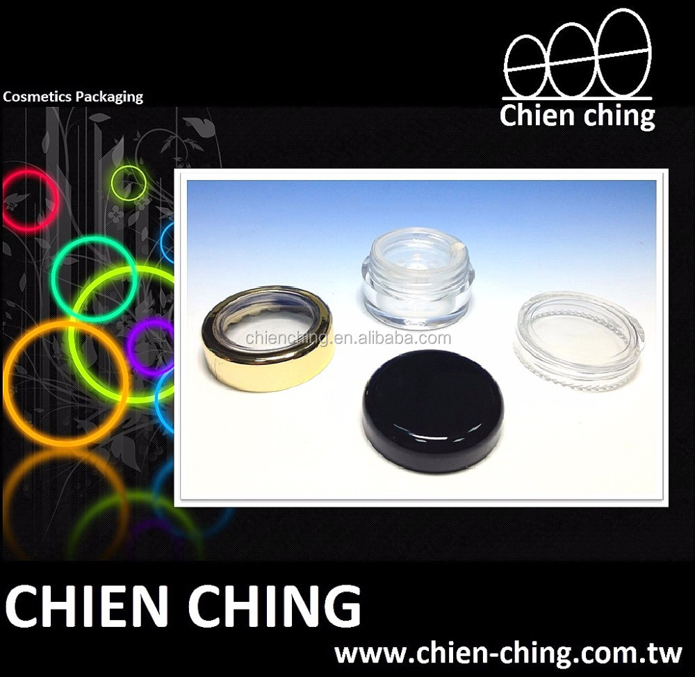 Empty Plastic Cosmetic Loose Powder Jar with Sifter