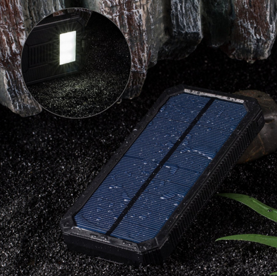 Ekinge solar power bank high capacity charger 10000mAh Dual USB Ports Solar Charger Compass LED Light Power bank