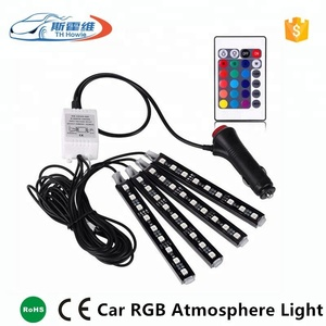 Car RGB LED Strip Light 5050 9 SMD Decorative Atmosphere Lamp 16 Colors Car Styling Car Interior Light With Remote
