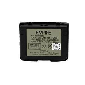 Vertex FNB-80 2-Way Radio Battery (Li-Ion 7.4V 1300mAh) Rechargeable Battery - replacement for Yaesu/Vertex FNB-80 Battery