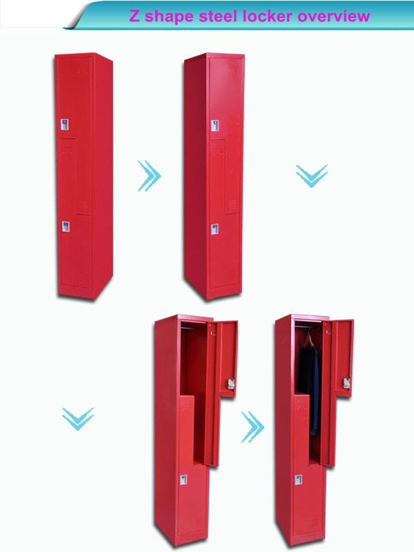 Lcl Raised Panel Door: Office Use Red Color 2 Doors Z Shape Wardrobe