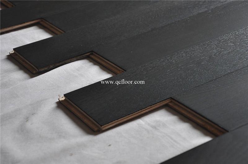 أسود البلوط الأرضيات الخشبية الباركيه الأسعار الارضيات المهندسة