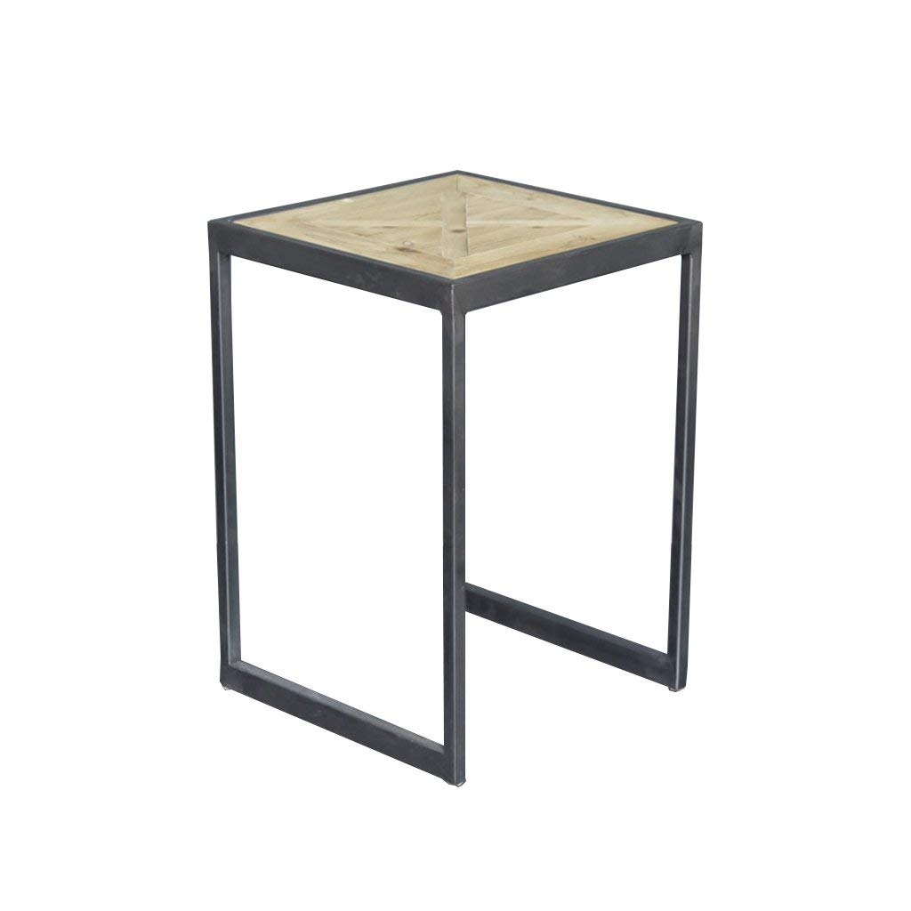 Perfect Furniture CSQ Retro Small Square Table, Creative Wooden Iron Art Living Room Coffee Table Multifunction Low Table Do The Old Tea Table Tea Table (Size : 353550CM)