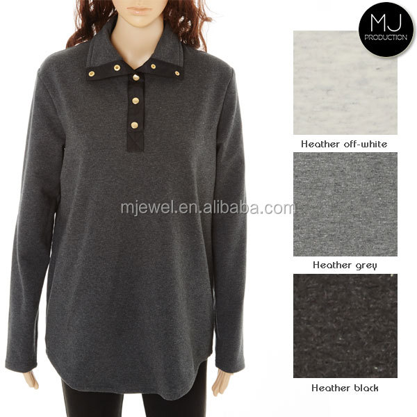 Wholesale Clothing Heather Fabric Winter Pullover