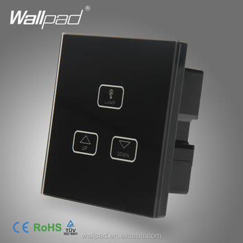 Best Quality 2 Gang Dimmer Switch Wallpad Black Gl Led Touch Panel