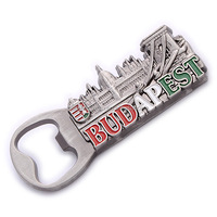 Budapest metal bottle opener custom souvenir fridge magnet