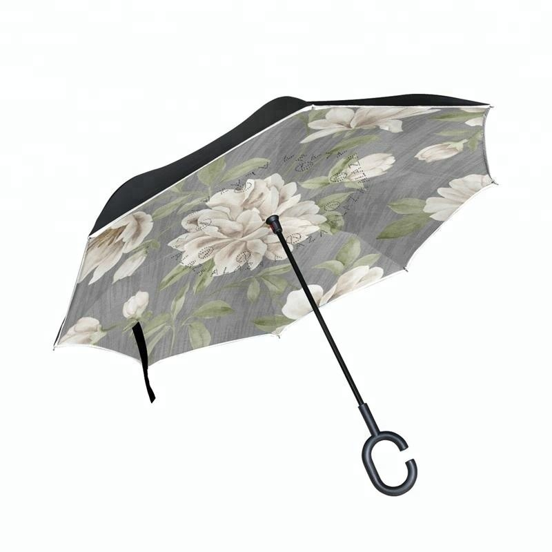 Latest designs Wind resistant Sun and rain upside down car inverted umbrella
