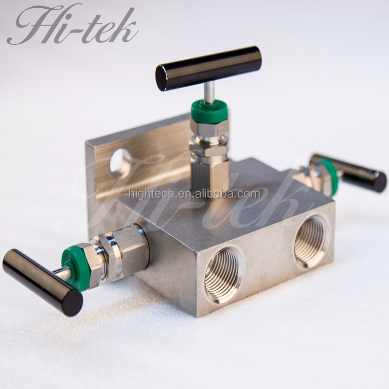 China Supplier High pressure Stainless Steel 316 Manifold Valves 3 way oxygen manifold