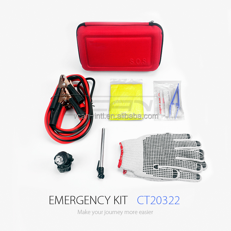VCAN Hot Selling on Amazon Auto Car Emergency Kit for Road Assistance CT20322 Roadside Emergency Kit and Road Safety Kit