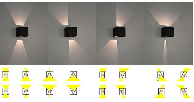Adjustable Modern Led Outdoor Wall Bracket Light Fitting/ip65 Wall ...
