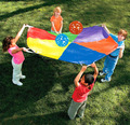 1SET LOT 3 65meter 143 7inches Super Sturdy Parachute umbrella Outdoor toys Teamwork toys Team games