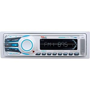 """Boss Audio Systems - Boss Mr1308uab Marine Flash Audio Player - 200 W Rms - Ipod/Iphone Compatible - Mp3, Wma - Am, Fm - 18, 12 X Fm, Am Preset - Secure Digital (Sd) Card, Multimediacard (Mmc) - Bluetooth - Usb - Auxiliary Input - Detachable Front Panel """"Product Category: Automotive & Marine"""