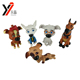 Manufacturer Supplier mixed color mini plastic toy lifelike animal dog figurine