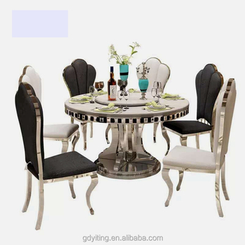 Thai Vintage 10 Seater Multifunctional Black Big Round Malaysia Imported  Onyx Marble Dining Table