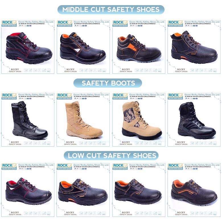 PU leather customized brand safety shoes pakistan