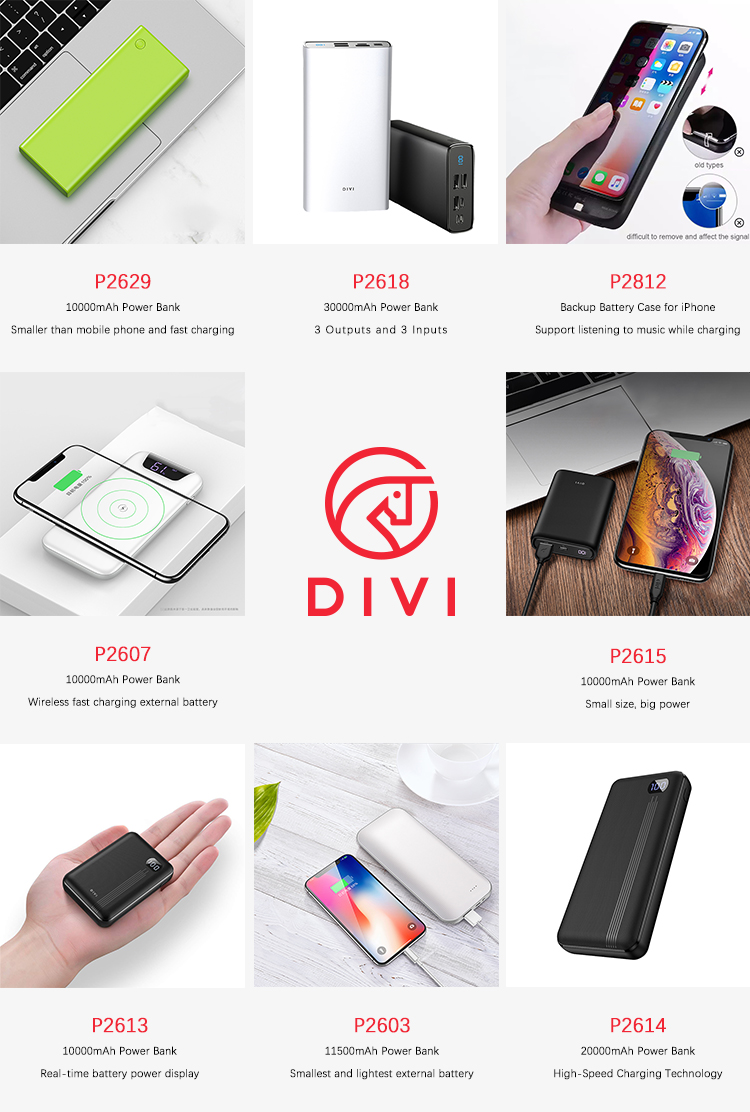 DIVI Power Bank 10000mah, Portable Power Banks with Digital