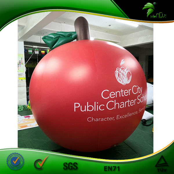 8 Feet Apple Shaped Balloon, Inflatable Apple Fruit Helium Balloon