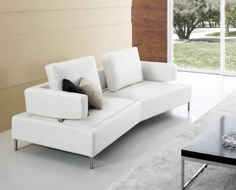 Latest Designs Modern Sofa Metal Frame Leather Cover Base ...