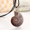 Tryme 2016 Fashion Natural Stone Snails Pendant Necklace Charm Sea Slide Seashell Necklace Women Statement Accessories