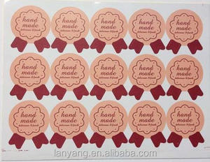 Birthday Cake Stickers - Thank You labels Personalized Name Stickers / Name Labels / Use on Cake Box
