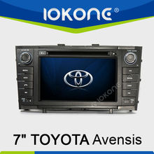 7'' HD Touch screen double din GPS navigation in dash Car Radio for Toyota Avensis