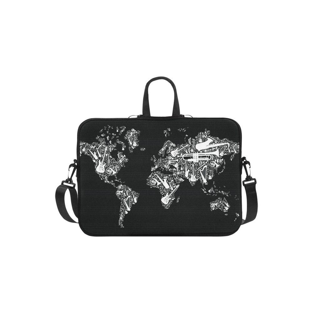 "InterestPrint Classic Personalized Music Note World Map 13"" - 13.3"" /Macbook Pro Air 13 Inch Laptop Sleeve Case Bags Skin Cover for Lenovo, GW, Acer, Asus, Dell, Hp, Sony, Toshiba"