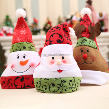41af740e1cb30 Wholesales Good Quality Cute Children Christmas Hat Santa hat Christmas Cap  for Gifts Party Hat