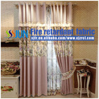 European Style High Quality hot selling aux linen blackout window curtain With Excellent Flame Retardant Performance