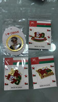 new design Oman badge/round king/1970/flag/national day lapel pins