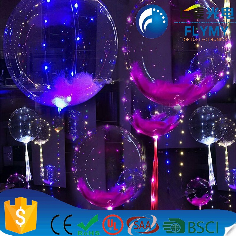 New Year festival wedding decoration LED BOBO balloon light